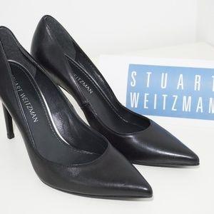 🆕Stuart Weitzman High Heel Pumps Pointed Toe BLK